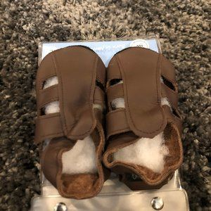 Boys Bobux Brown Leather Shoes